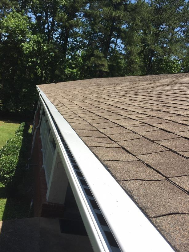 New gutters and LeaFree gutter protection in Lithia Springs, GA - After Photo