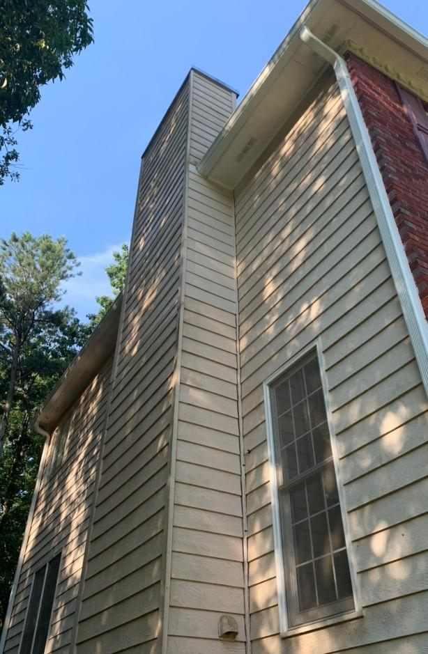 Chimney siding repair in Mableton, GA - After Photo