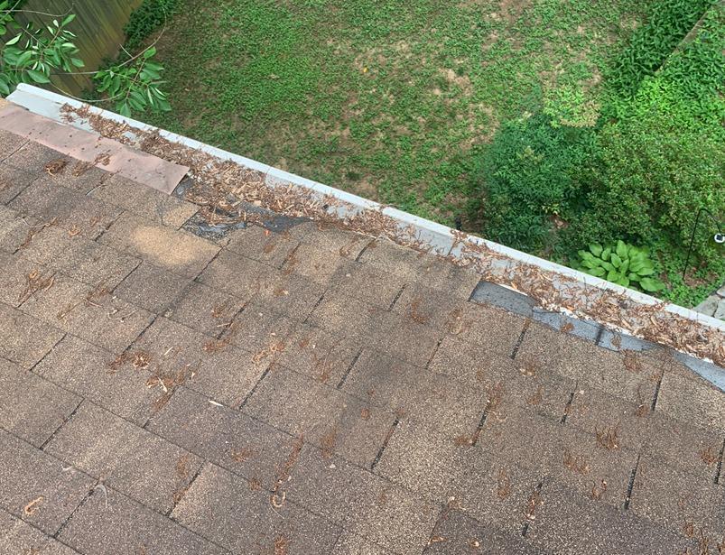 Roof and soffit repair in Atlanta, GA - Before Photo