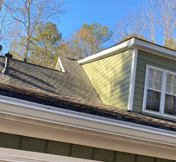 Hardie siding replacement and new gutters in Ellenwood, GA - After Photo