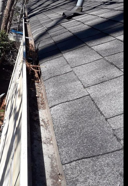 LeaFree gutter protection in Decatur, GA - Before Photo