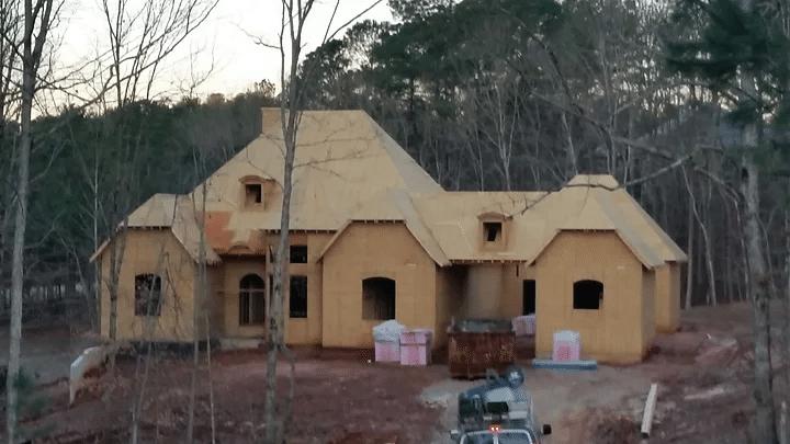 Roof Installation in Newnan, GA - Before Photo