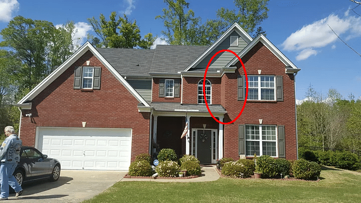 Gutter & Downspout Install in Fairburn, Georgia - Before Photo