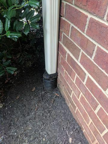 Gutter Repair & Downspout Installed on Peachtree City Home!