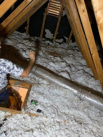 Attic Insulation Replacement in Atlanta, GA - Before Photo