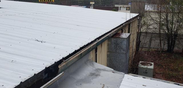 New gutters on a commercial building in LaGrange, GA