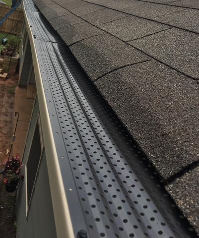 Gutters and Bulldog gutter guards installed in Locust Grove, GA