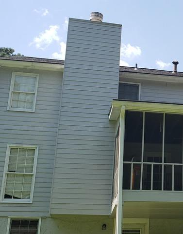 Chimney siding replacement in Fayetteville, GA