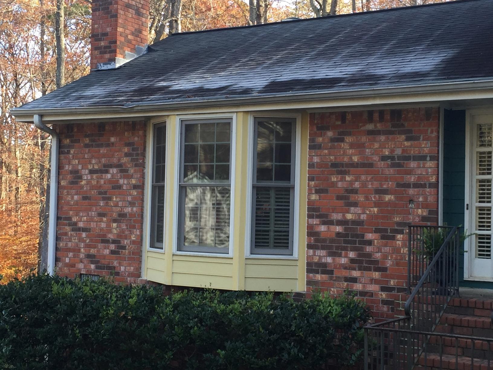 Bay Window Refreshed with New Siding in Marietta, GA - Before Photo
