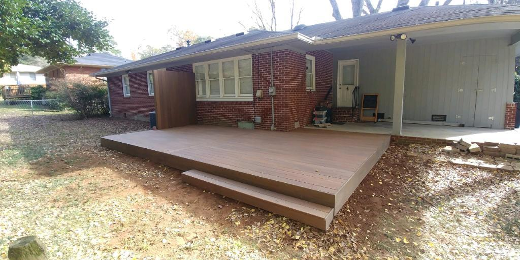 Homeowners Wanting to Update Back Yard Space in Marietta, GA - After Photo