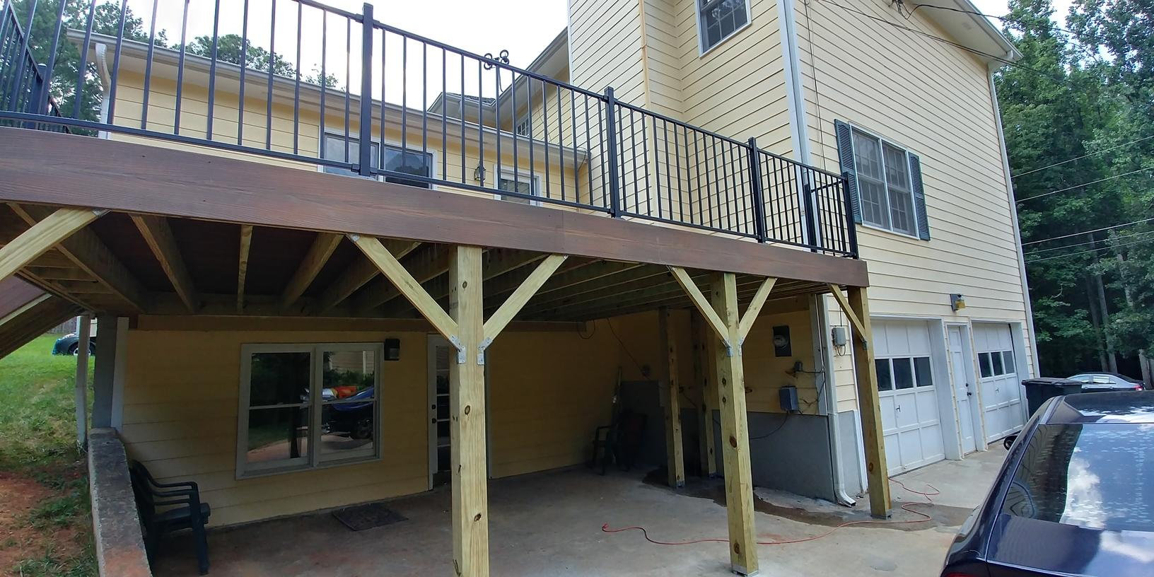 New Deck Installed for Grandmother's Birthday in Kennesaw, GA - After Photo