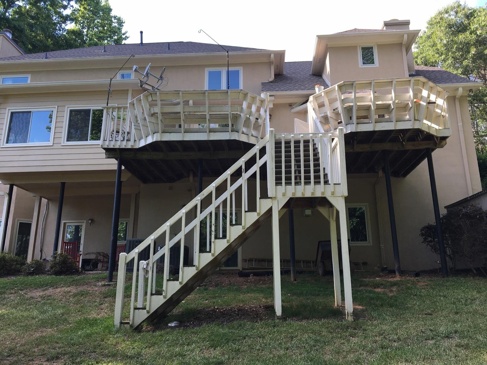 High Deck Overhaul in Woodstock, GA - Before Photo