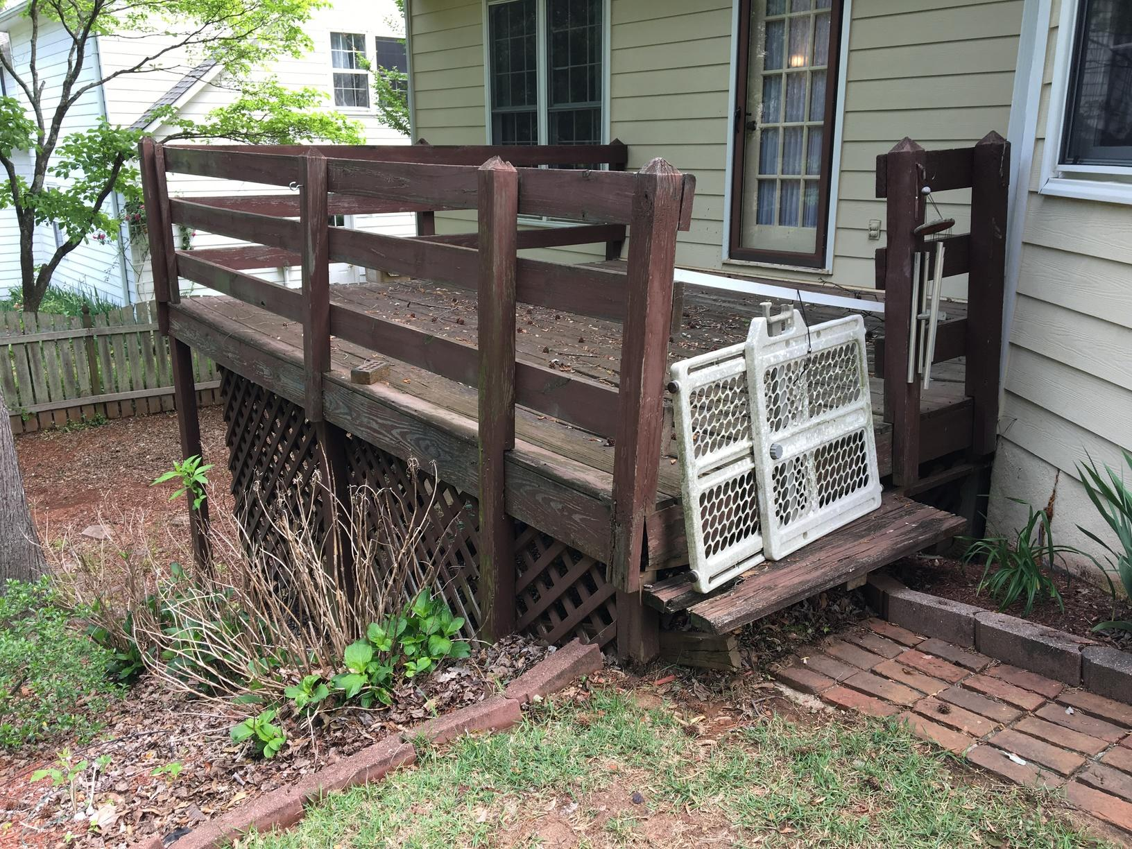 New Deck and Pergola Installed in Marietta, GA - Before Photo
