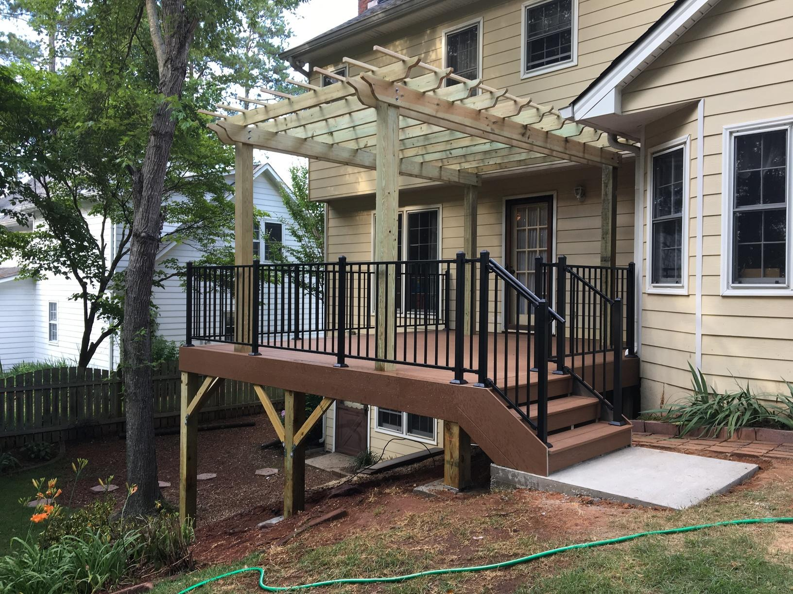 New Deck and Pergola Installed in Marietta, GA - After Photo