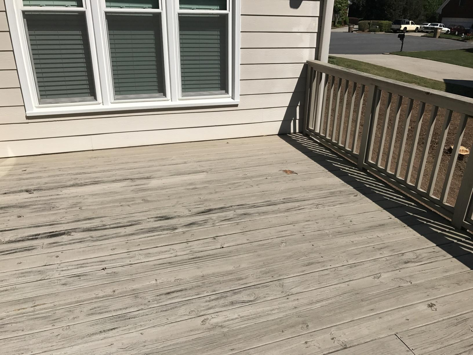 Low Maintenance Deck Install in Alpharetta, GA - Before Photo