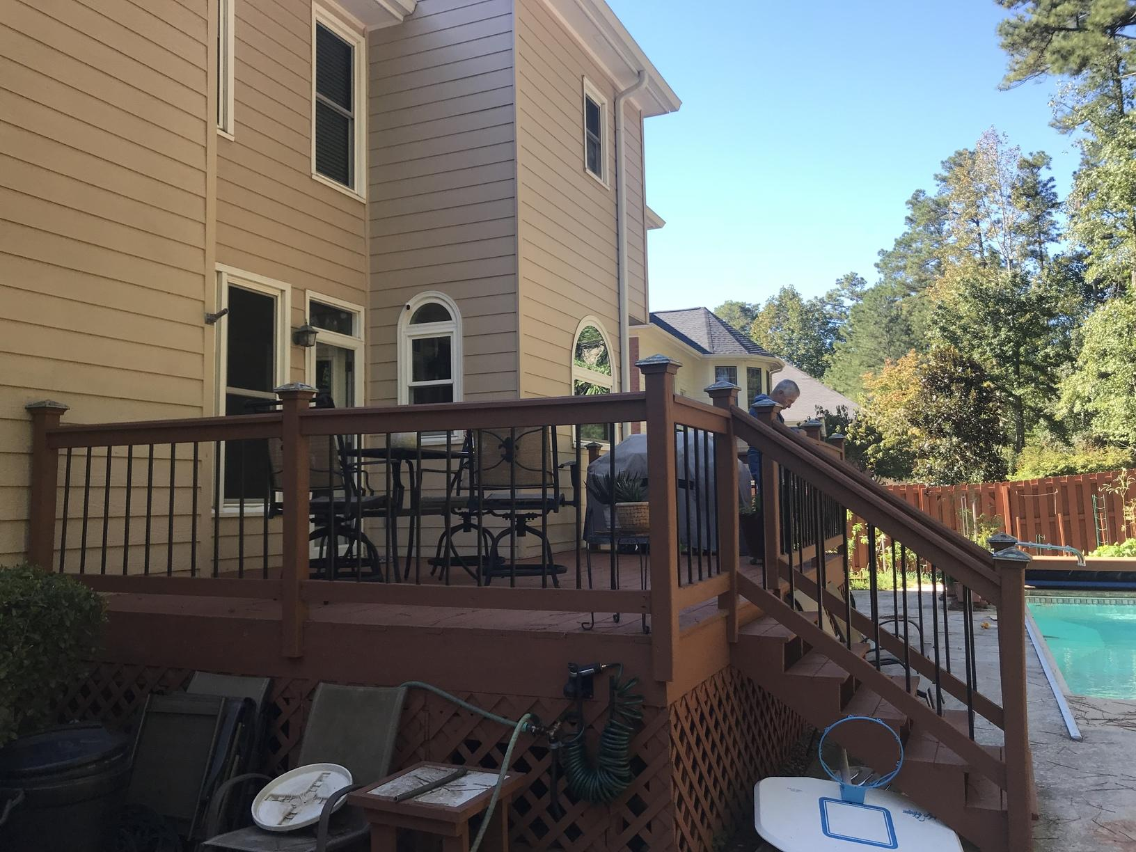 Deck to Sunroom in Alpharetta, GA - Before Photo