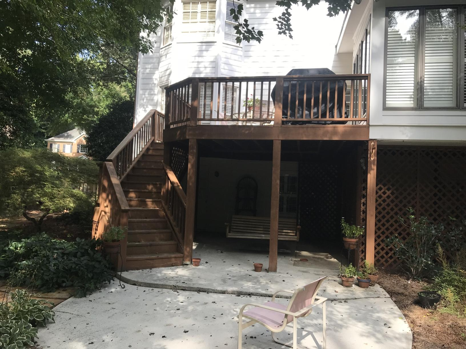 A New PVC Deck in Marietta - Before Photo