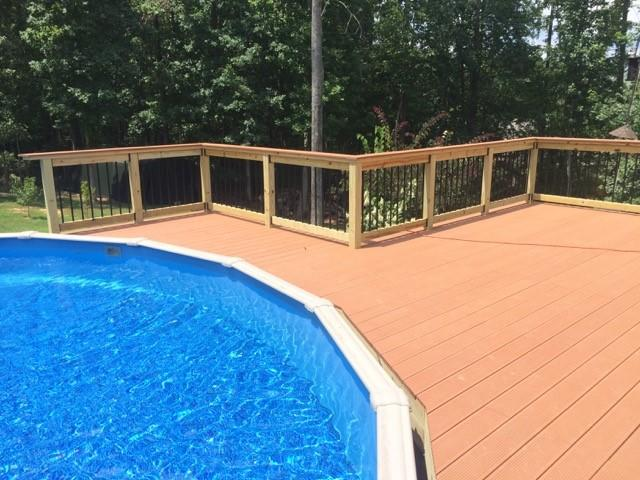 Wrap Around Pool Deck in Acworth, GA - After Photo