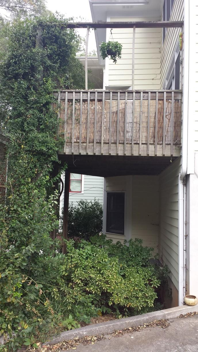 Back Deck Remodel in Atlanta, GA - Before Photo