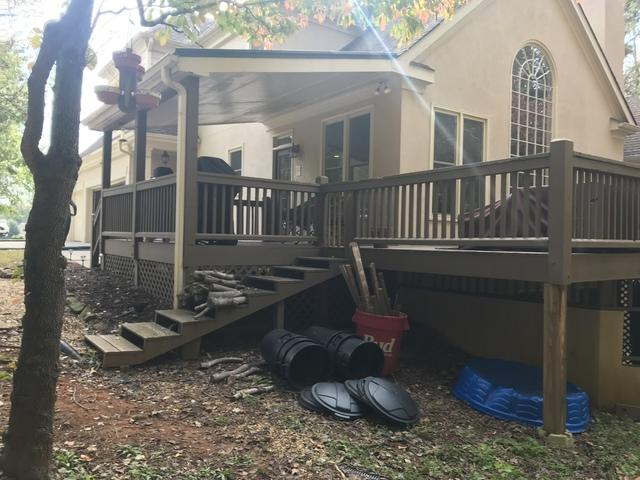 Old Unsafe Deck Upgraded in Alpharetta, GA - Before Photo