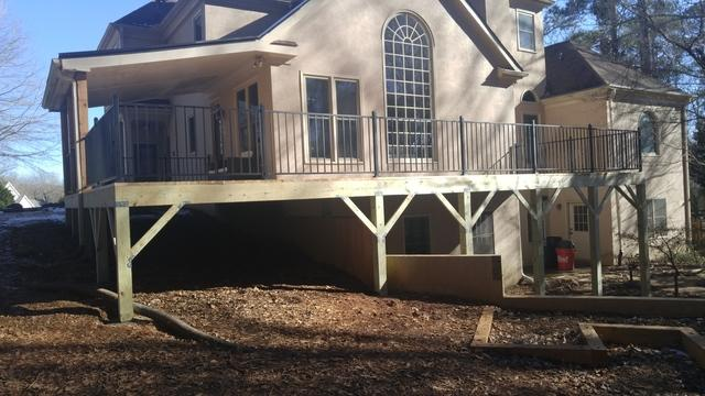 Old Unsafe Deck Upgraded in Alpharetta, GA
