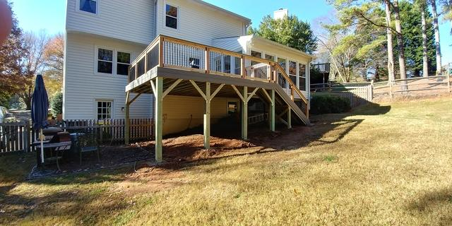 Modified Deck Installed for Their Dog in Roswell, GA - After Photo