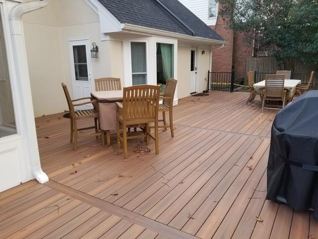 New Large Composite Deck with Upgraded Rail in Dunwoody, GA