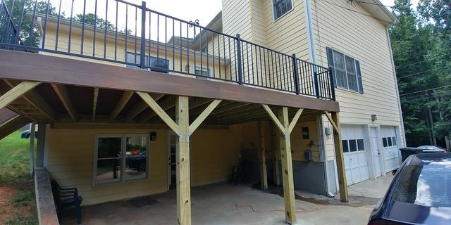 New Deck Installed for Grandmother's Birthday in Kennesaw, GA