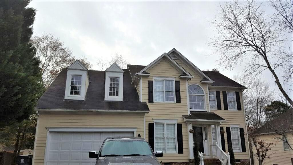 Old Roof Replaced in Knightdale - Before Photo