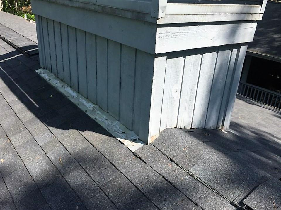 Re-flashed Chimney in Salem, SC - Before Photo