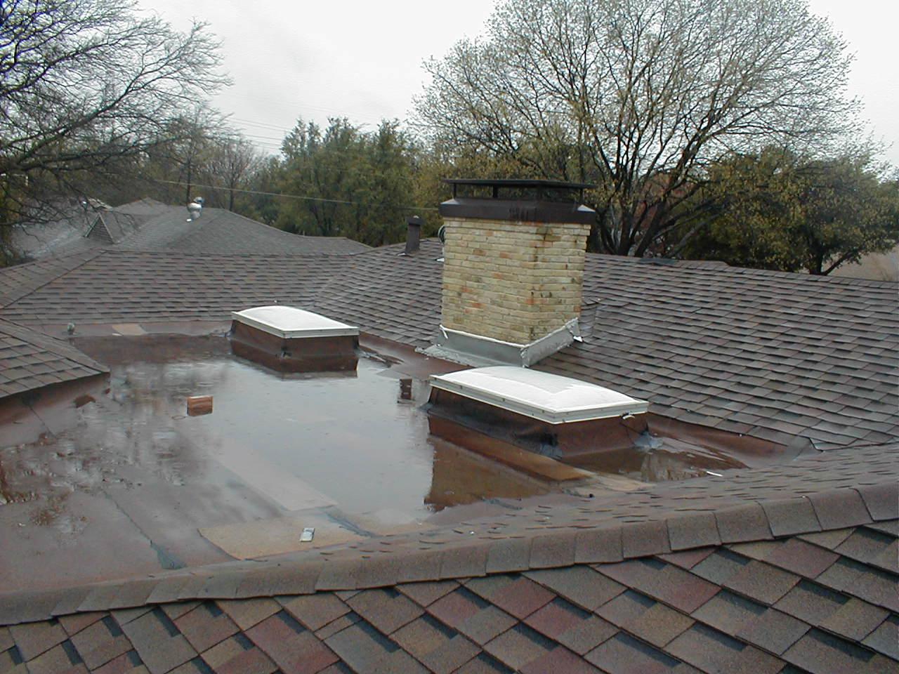 Roof Repair in Dallas, TX - Before Photo