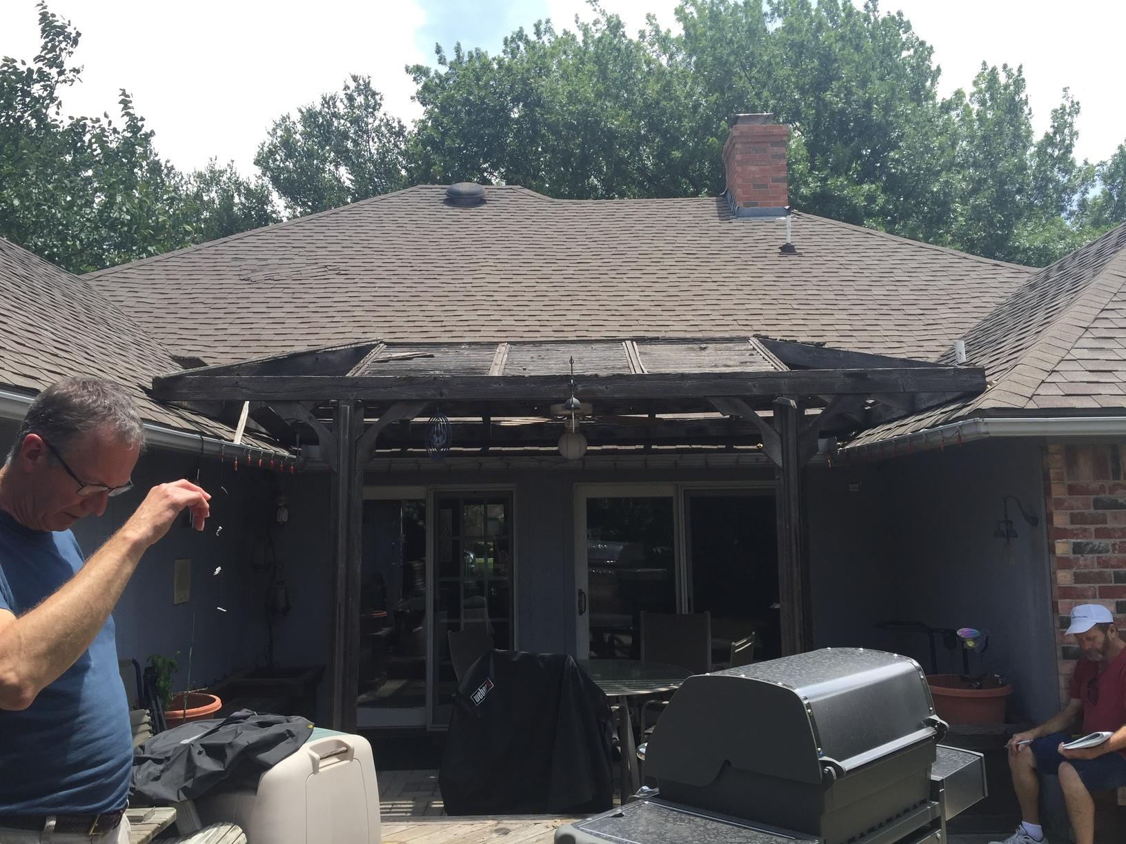 Roof Add-on for Patio in Arlington, TX - Before Photo