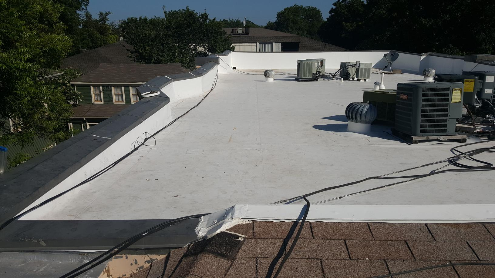 Commercial TPO Roofing Installation in Dallas - After Photo
