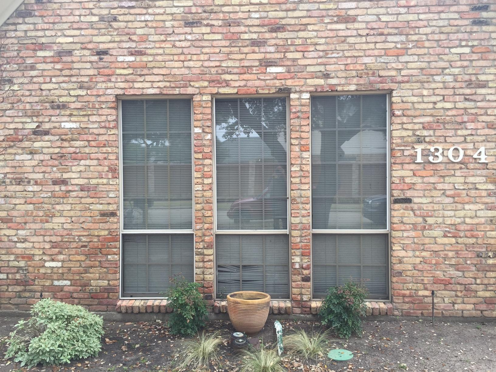 Bronze Aluminum Window Replacement in Plano, TX - Before Photo