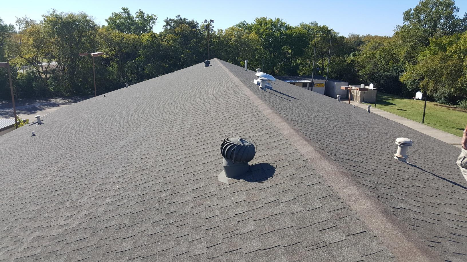 Church Roof Replacement in Dallas, TX - Before Photo