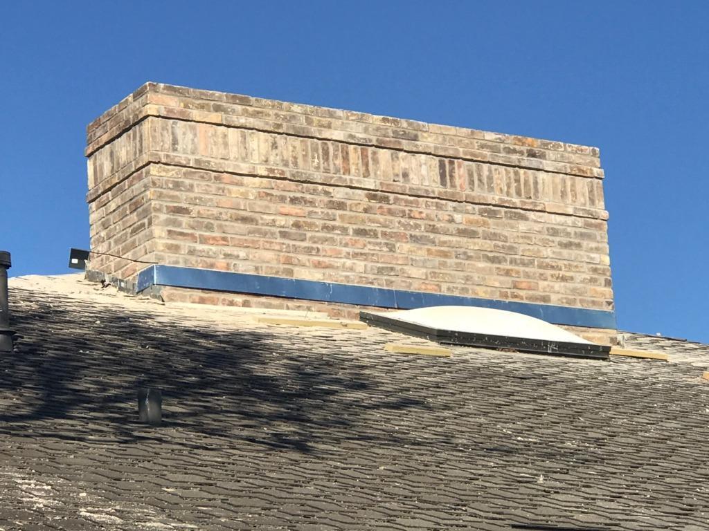 12 ft Chimney Rebuild Dallas, TX - After Photo