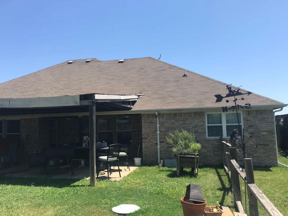 Patio Cover Renovation Waxahachie, TX - Before Photo