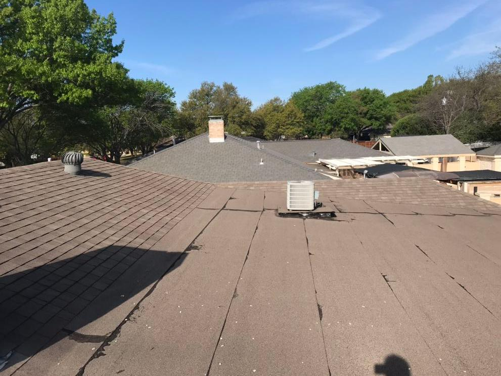 Modified Roof System Duncanville, TX - Before Photo