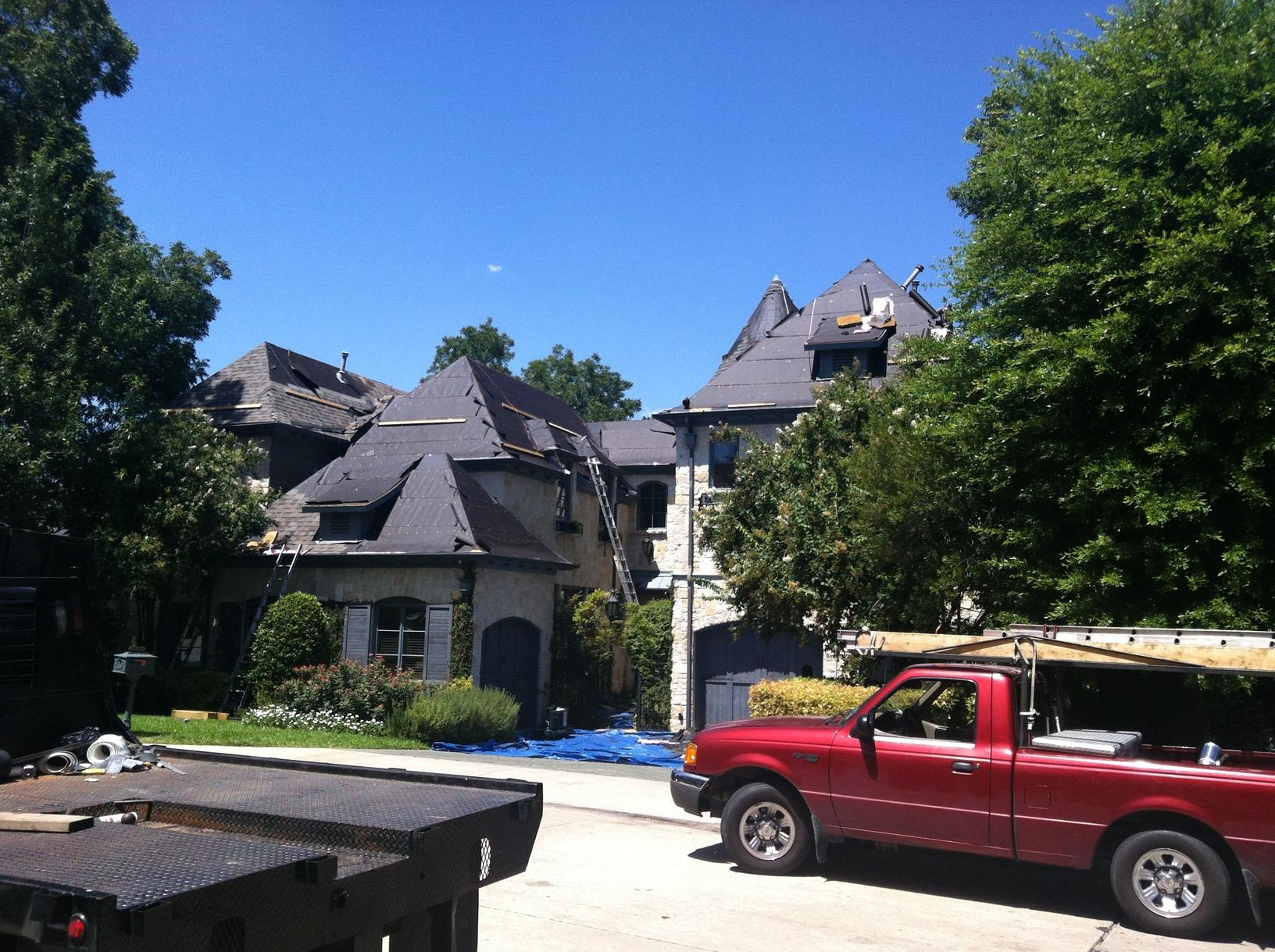 Owens Corning Roof Replacement in Dallas, TX - Before Photo