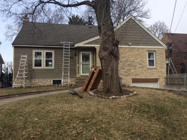 Gutters and Downspouts in Minneapolis, MN - Before Photo