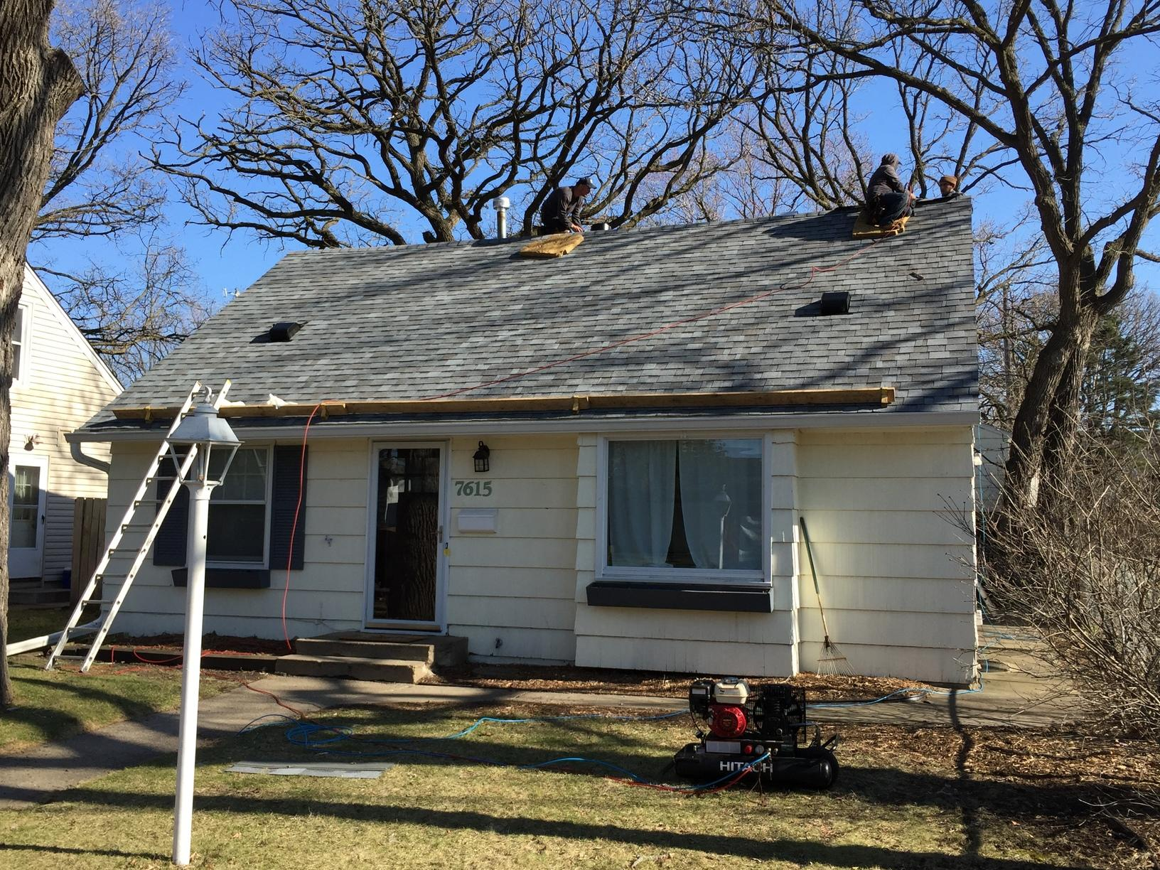 Gutter Replacement with a New Roof in St Louis Park, MN - After Photo