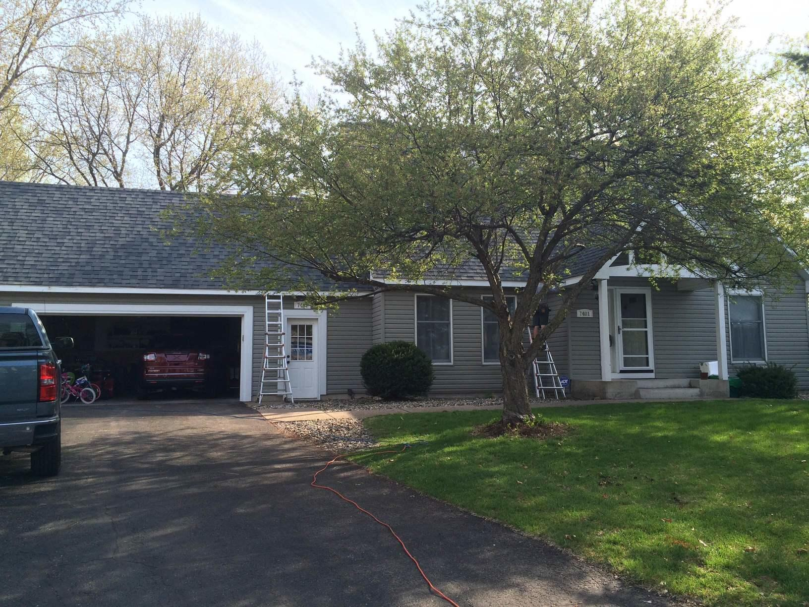 Gutter Replacement in Mounds View, MN - Before Photo