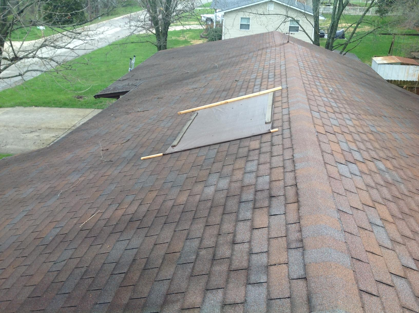 New Owens Corning Roof Replacement in Warrenton, MO - Before Photo