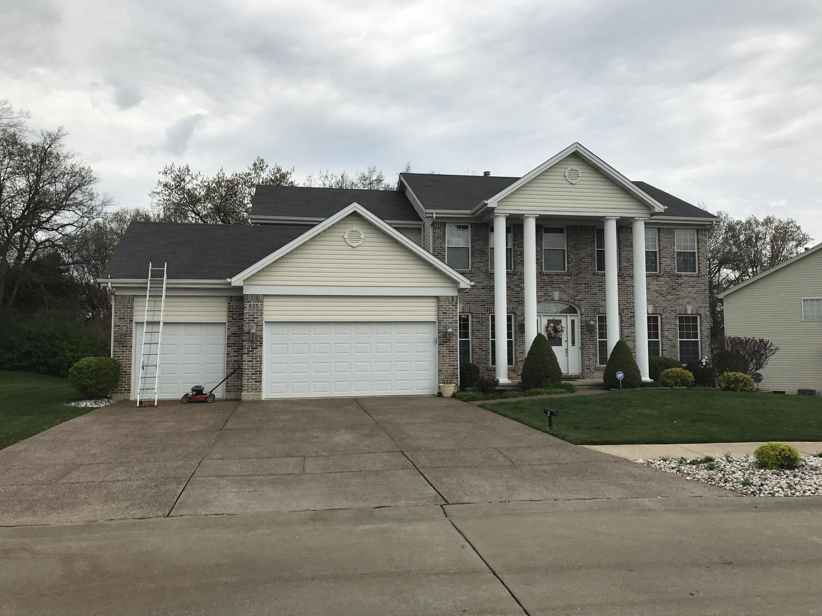 Wentzville MO Two Story Weather Damaged Roof Replacement - Before Photo