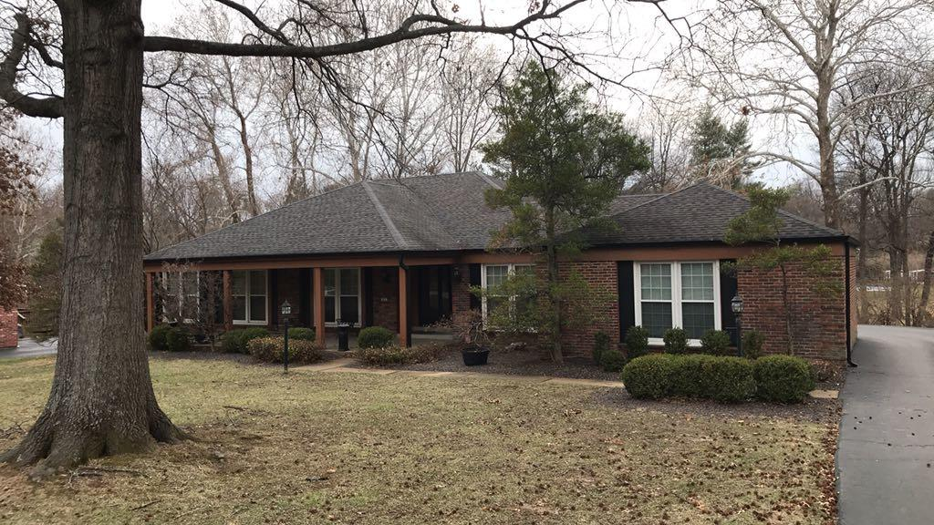 Beautiful New Roof and Gutters Installed in Creve Coeur, MO - Before Photo