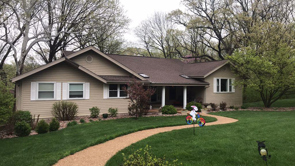 St Charles, MO Ranch Home Roof Replacement - Before Photo