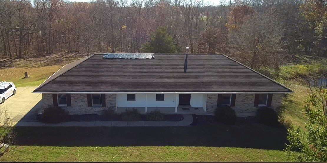 Roof and Gutter Replacement in Warrenton MO - Before Photo