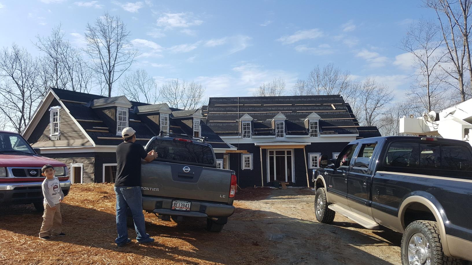 Roof Replacement for a Custom Home Construction in Alpharetta, GA - Before Photo