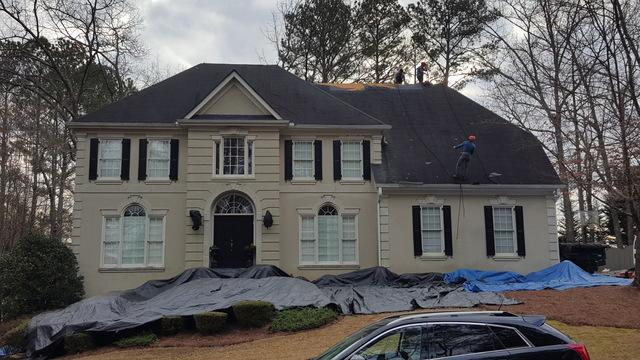 Roof replacement in Marietta, Georgia