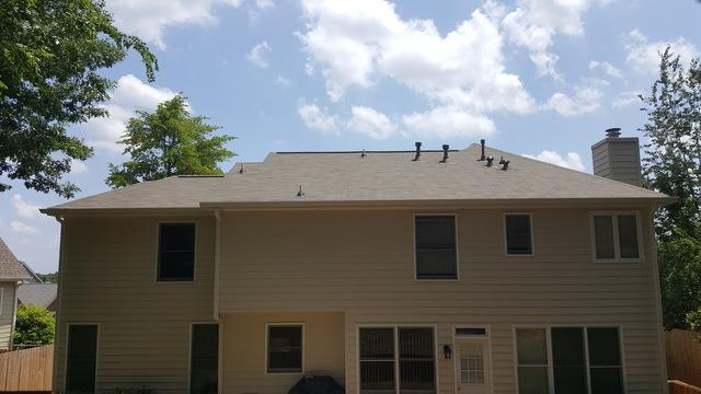 New roof and gutter replacement in Peachtree Corners, Georgia